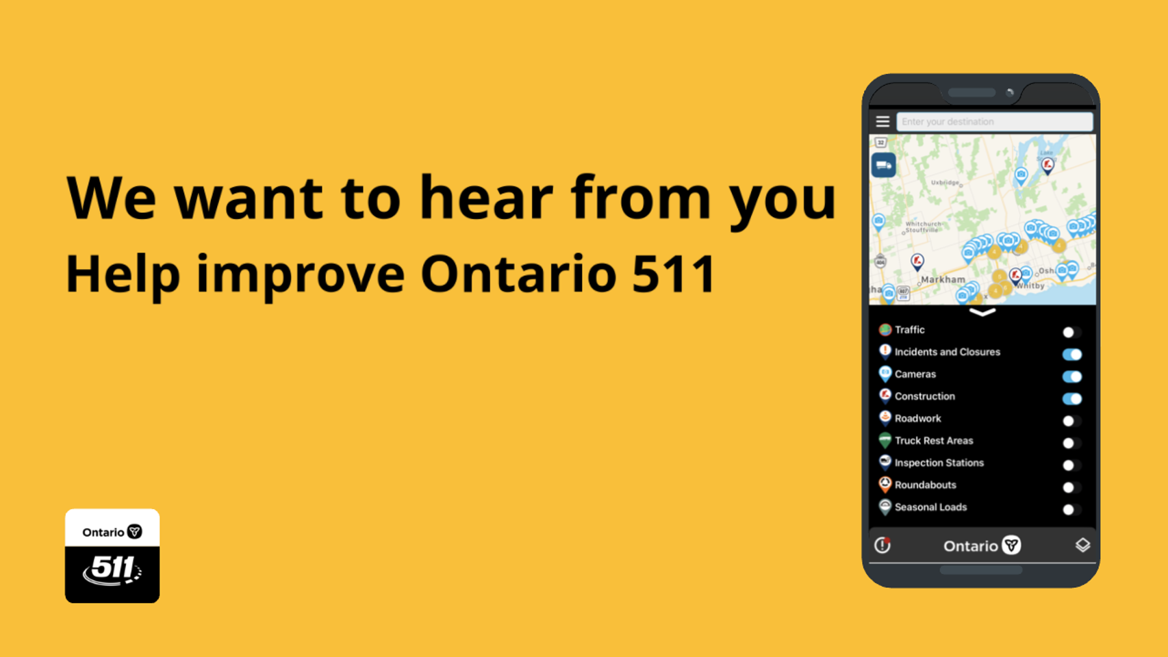 Ontario 511 Research Registration Form