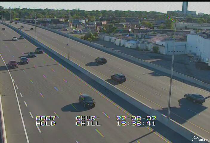 Highway 417 north of Carling Avenue