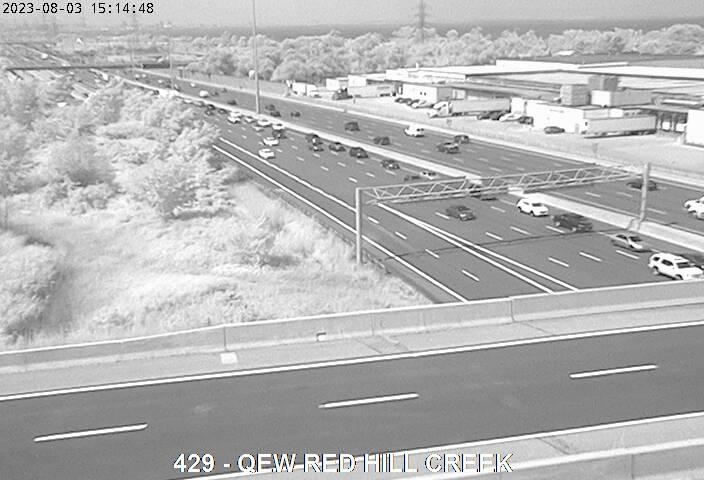 Queen Elizabeth Way near Red Hill Creek