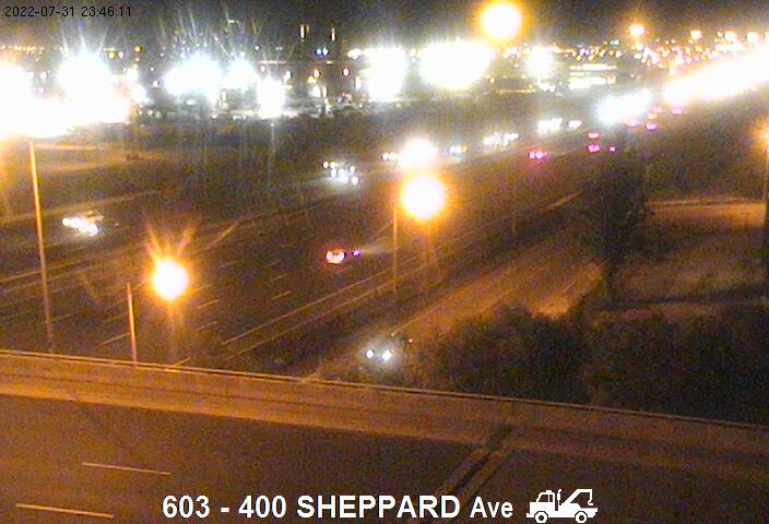 Webcam of East side of Highway 400 near Sheppard Avenue courtesy of the MTO