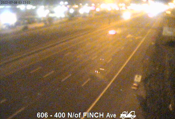 Webcam of East side of Highway 400 north of Finch courtesy of the MTO