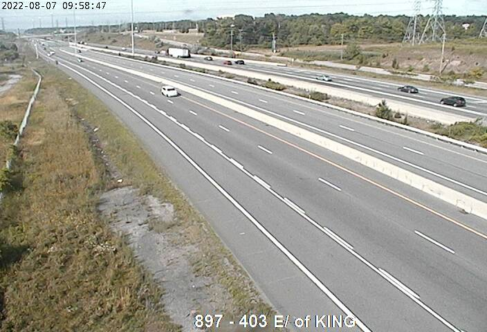 Live Traffic Camera of Highway 403 near King Road