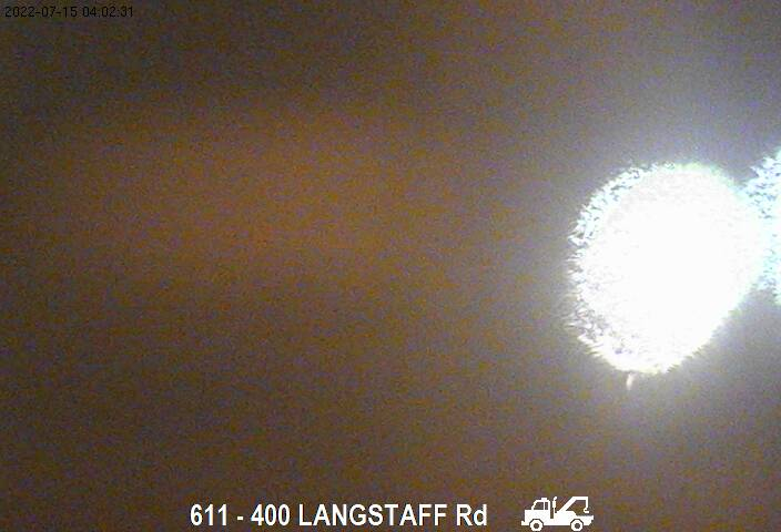 Webcam of East side of Highway 400 near Langstaff Road courtesy of the MTO