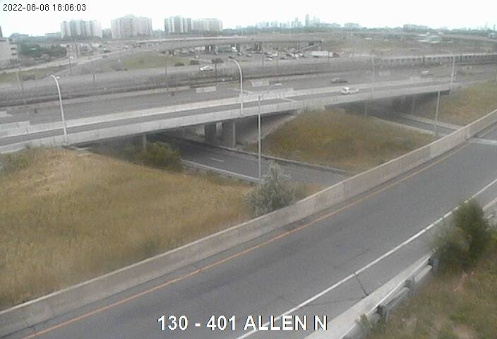 Webcam of Highway 401 near Allen Road North courtesy of the MTO