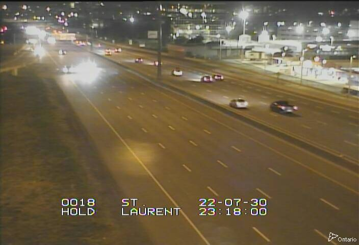 Live Traffic Camera of HWY 417 NEAR ST. LAURENT BLVD