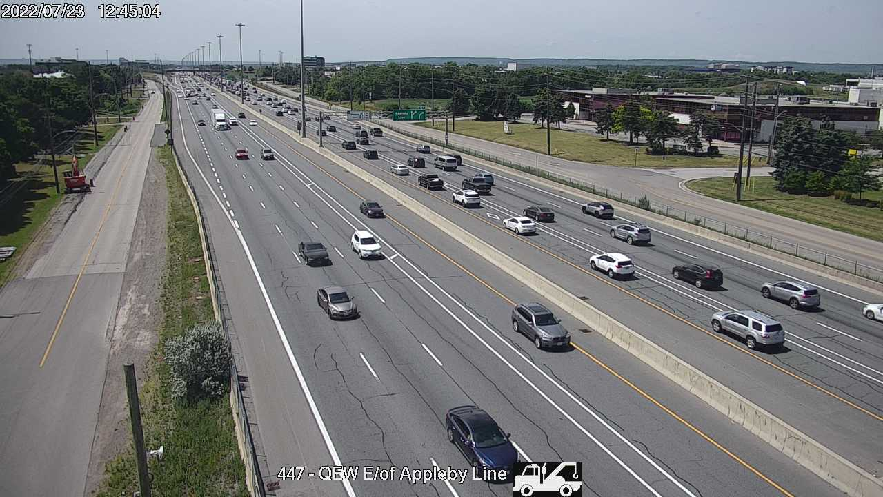 QEW between Appleby Line and Burloak Drive