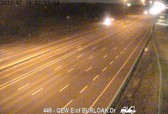 QEW between Burloak Drive and Bronte Road
