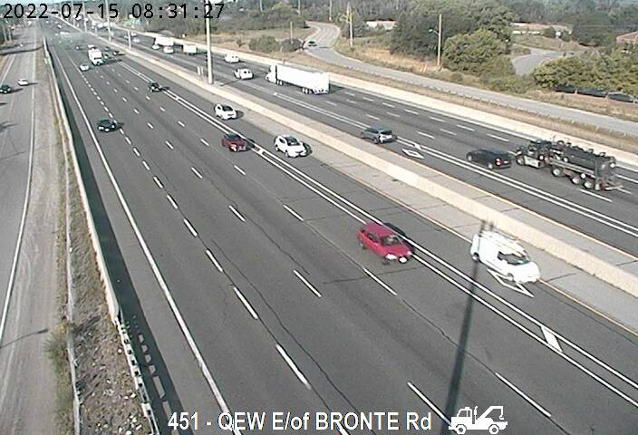 QEW between Bronte Road and Third Line