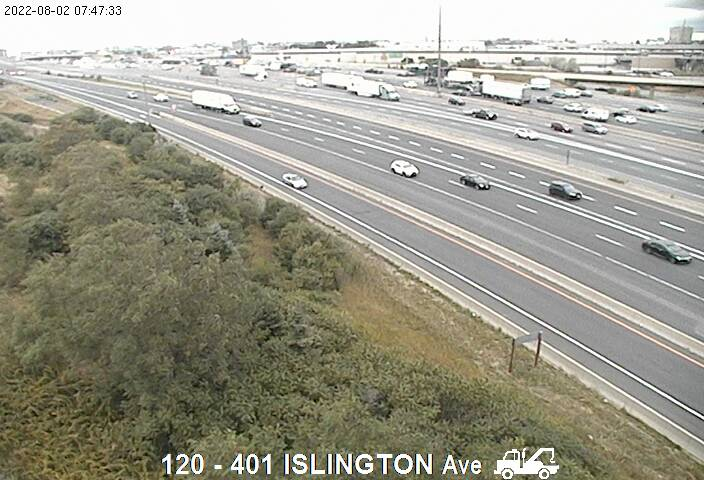 401 near Islington Ave