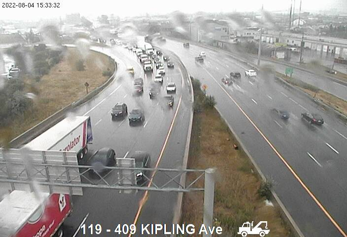 Webcam of Highway 401 near Highway 409 North courtesy of the MTO