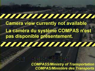 Webcam of South side of Highway 401 near Kipling Avenue courtesy of the MTO