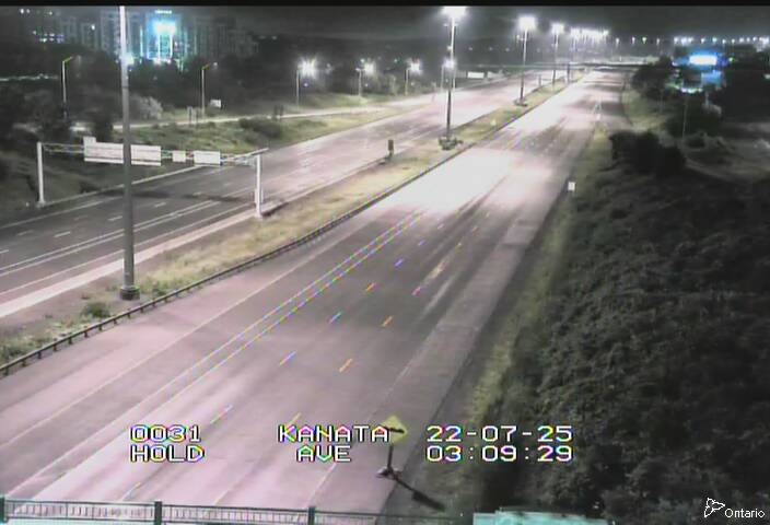 Live Traffic Camera of Highway 417 NEAR KANATA AVE