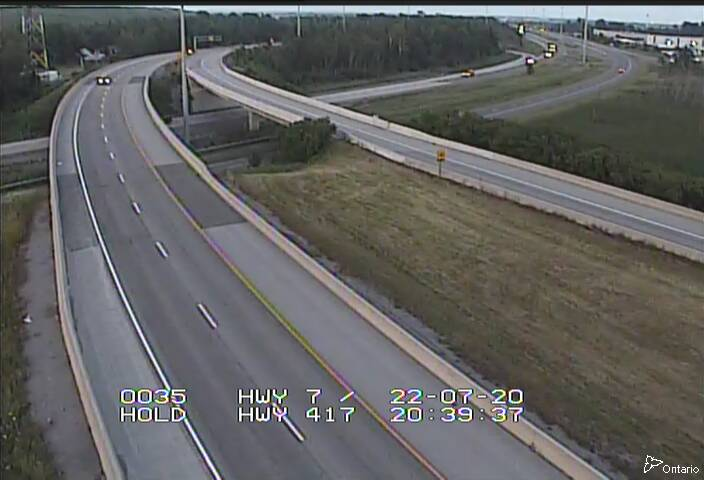Live Traffic Camera of Highway 417 NEAR HIGHWAY 7