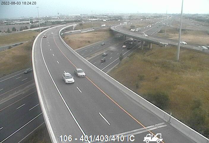 Webcam of Highway 401 near Highway 410 courtesy of the MTO