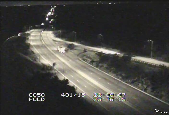 Live Traffic Camera of Highway 401 near Highway 15