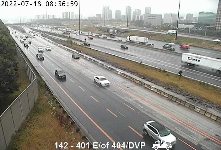 South side of Highway 401 east of Don Valley Parkway for more Hwy 401 Cameras from Hwy 404 to Scarborough CLICK HERE!