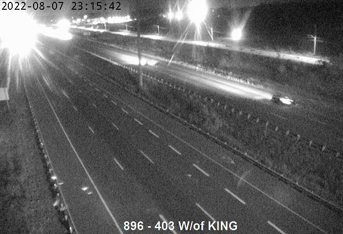 Live Traffic Camera of Highway 403 west of King Road