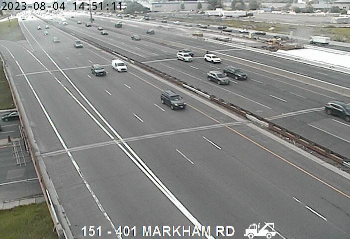 401 near Markham Rd