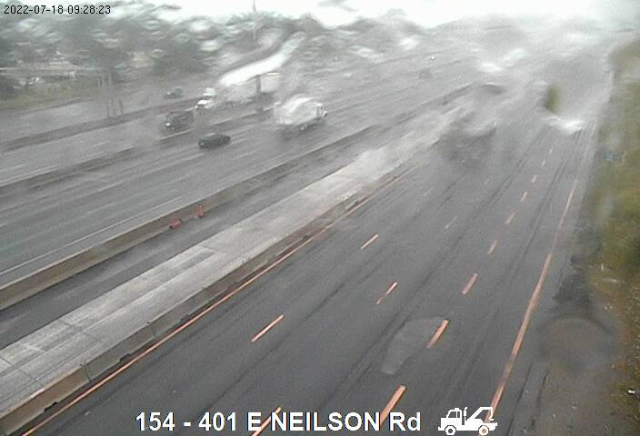 Webcam of South side of Highway 401 E of Neilson Rd courtesy of the MTO